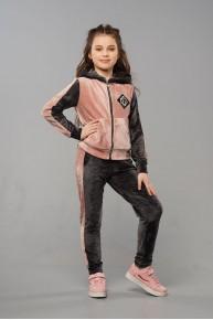 Дитячий велюровий костюм для дівчаток «Олівія»